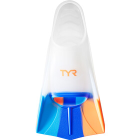TYR Stryker Silicone Fins XXL, currant orange/blue/clear